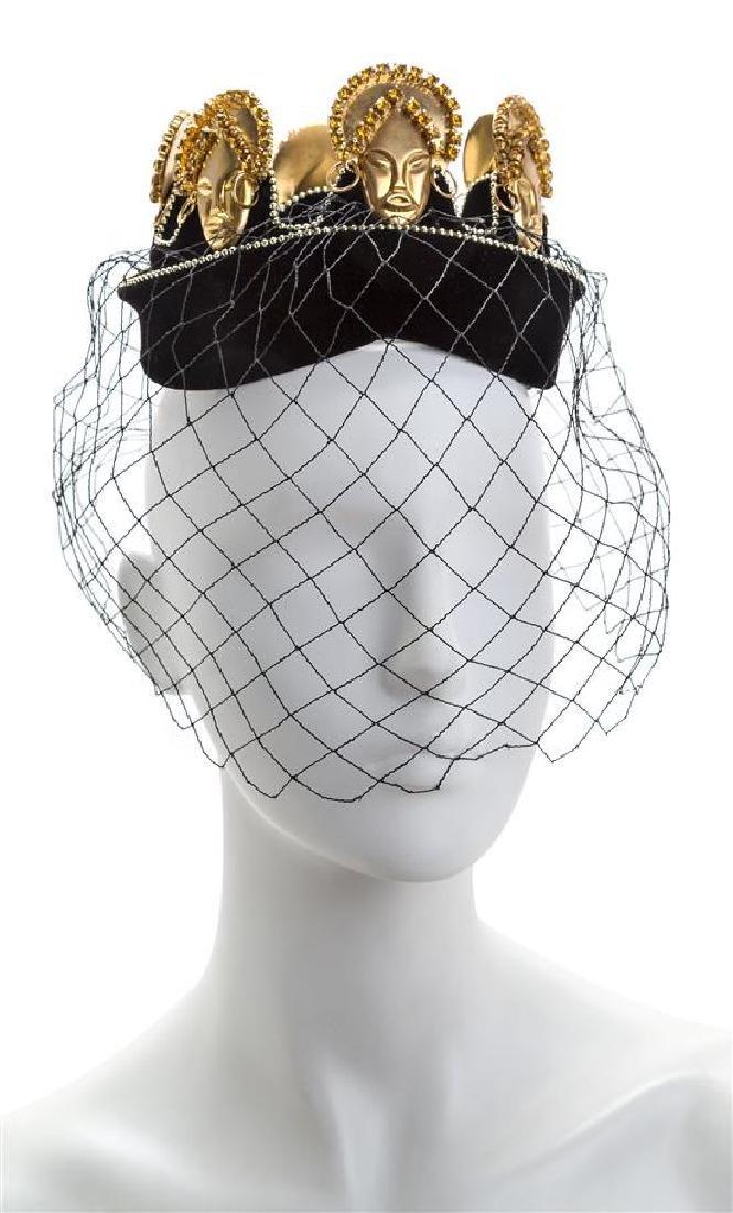 A Bes-Ben Black Velvet Hat,