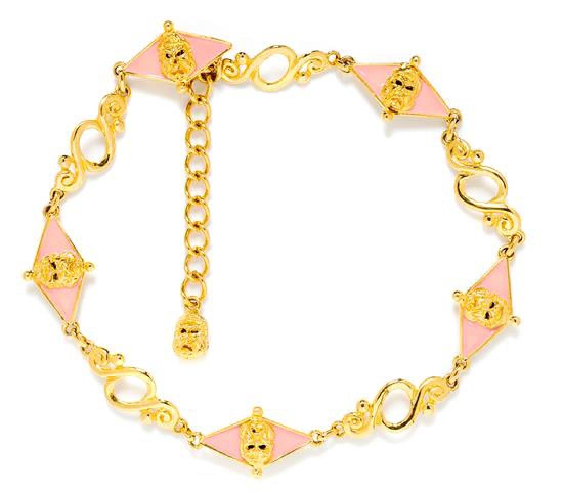 A Gianni Versace Vintage Goldtone Link Belt,
