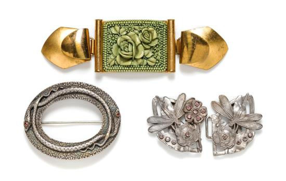 A Group of Three Belt Buckles,