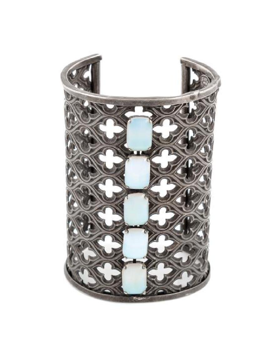 A Jean-Louis Blin Metal Cuff Bracelet,