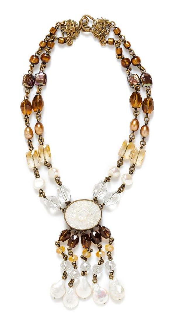 A Stephen Dweck Double Strand Necklace,