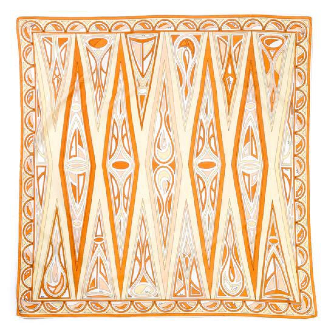 A Pucci Orange & Yellow Scarf,