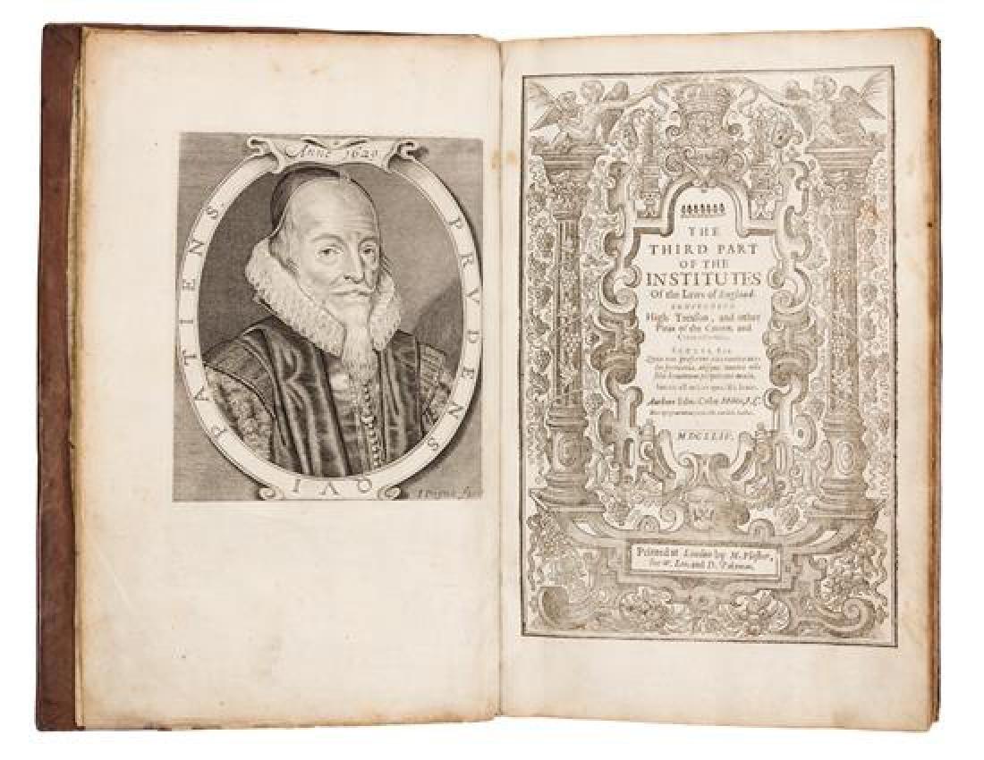 COKE, Edward, Sir (1552-1634).