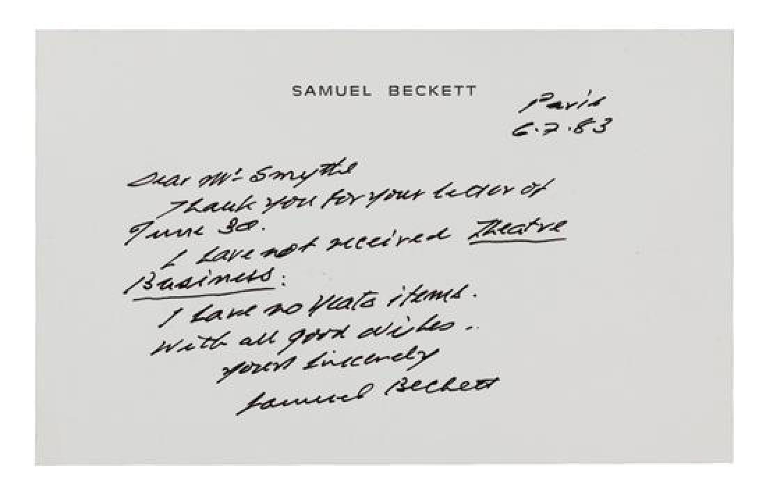 [BECKETT, Samuel].