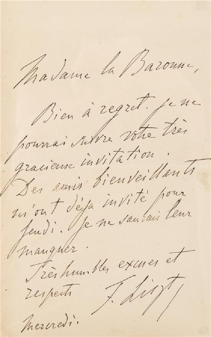LISZT, Franz (1811-1886).