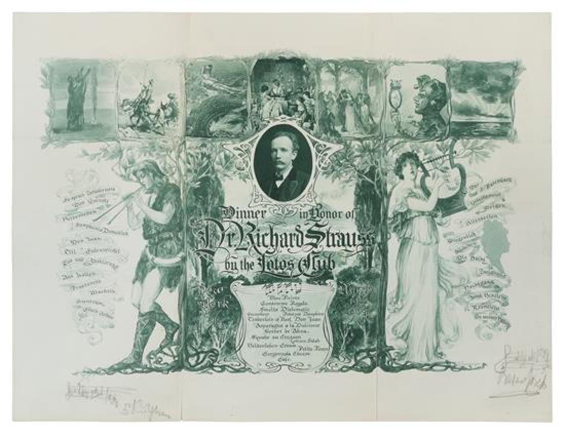 STRAUSS, Richard (1864-1949).
