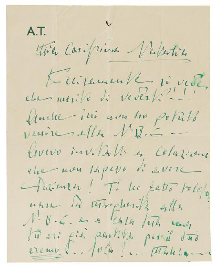 TOSCANINI, Arturo (1867-1957).