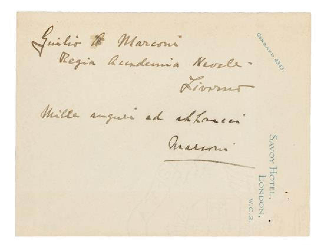 MARCONI, Guglielmo (1874-1937).