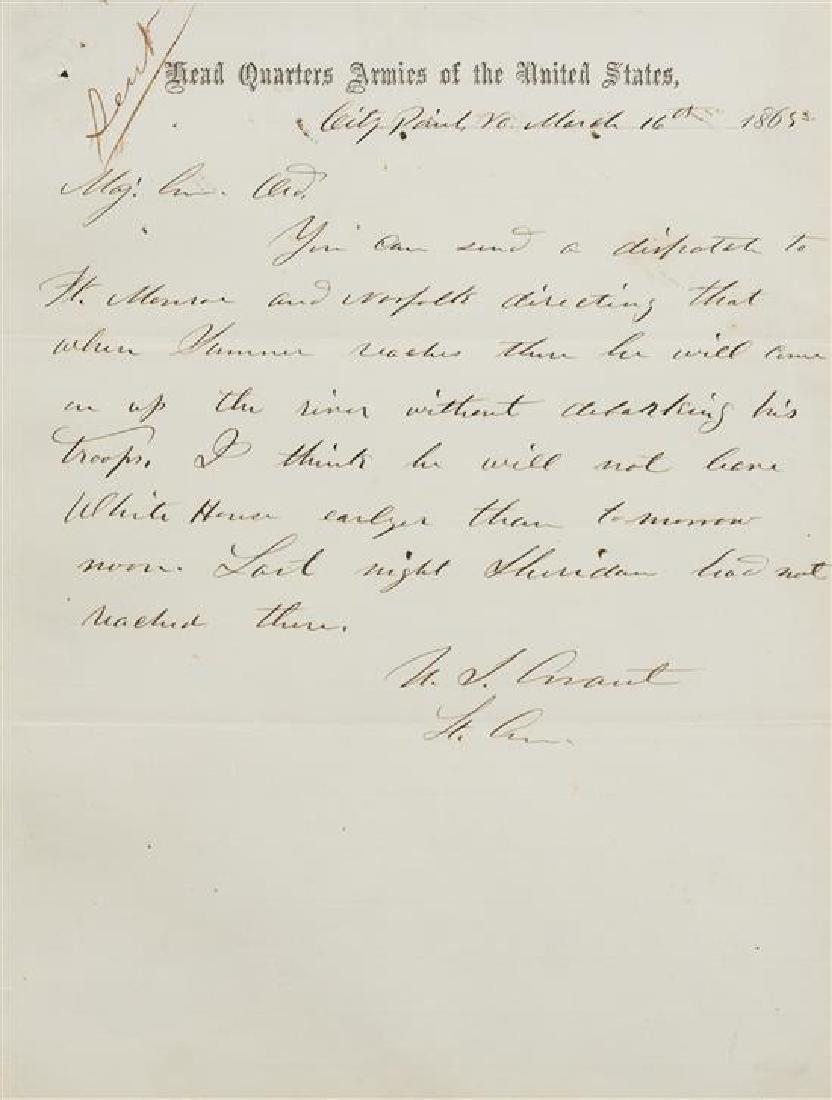 GRANT, Ulysses S. (1822-1885).