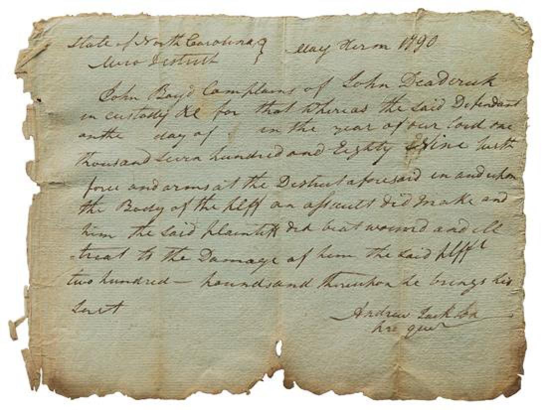 JACKSON, Andrew (1767-1845).