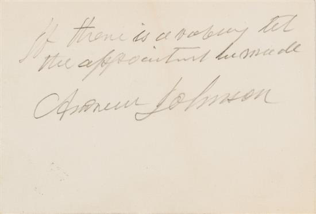 JOHNSON, Andrew (1808-1875).