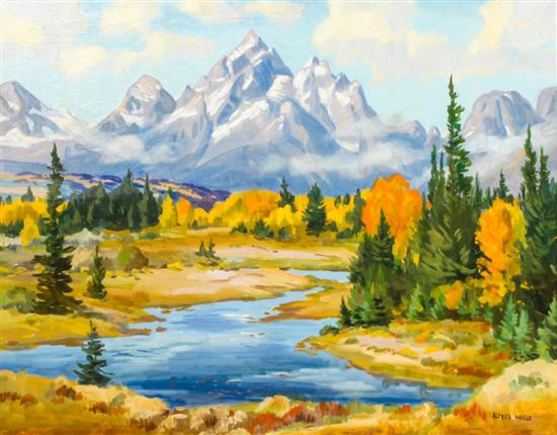 Alfred Wands, (American, 1904-1998), October Day Teton