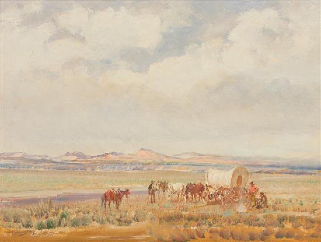Oscar E. Berninghaus, (American, 1874-1952), Wandering