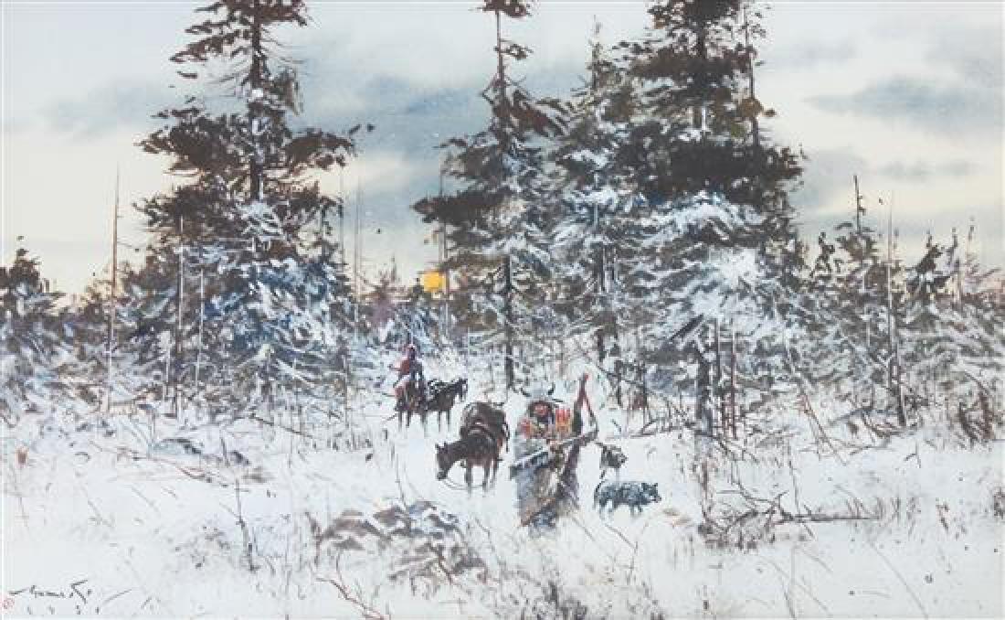 Gregory Sumida, (American, b. 1948), Deer Feast