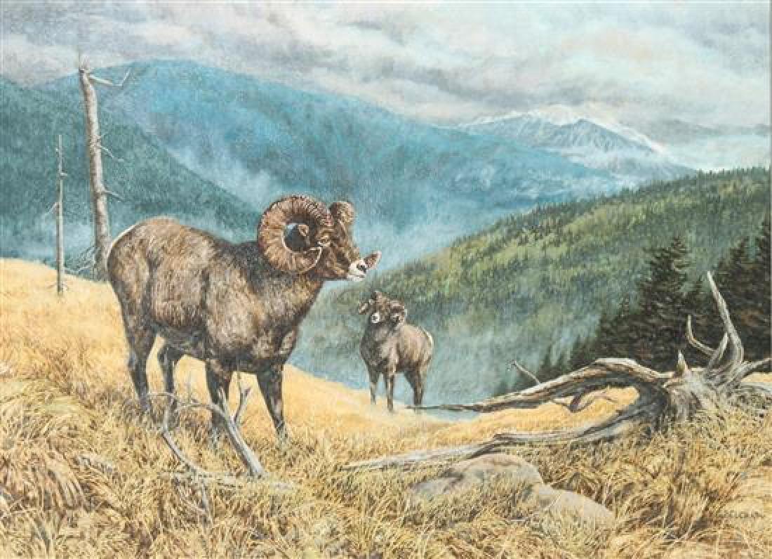 Greg Beecham, (American, b.1954), Two Rams
