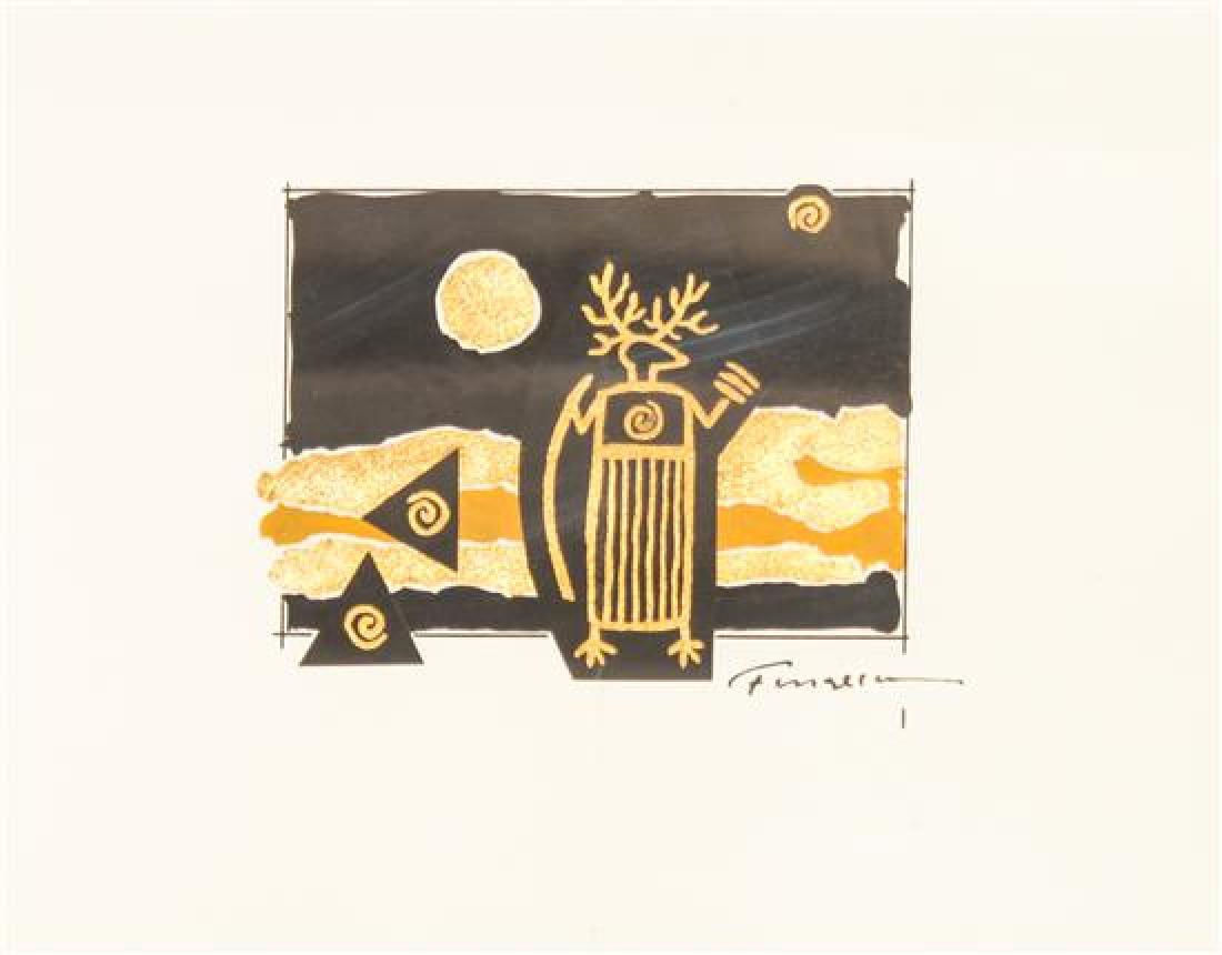 Harry Fonseca, (American, 1946-2006), three works: