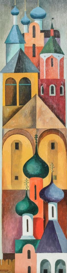 William Sanderson, (American, 1905-1990), The Holy City