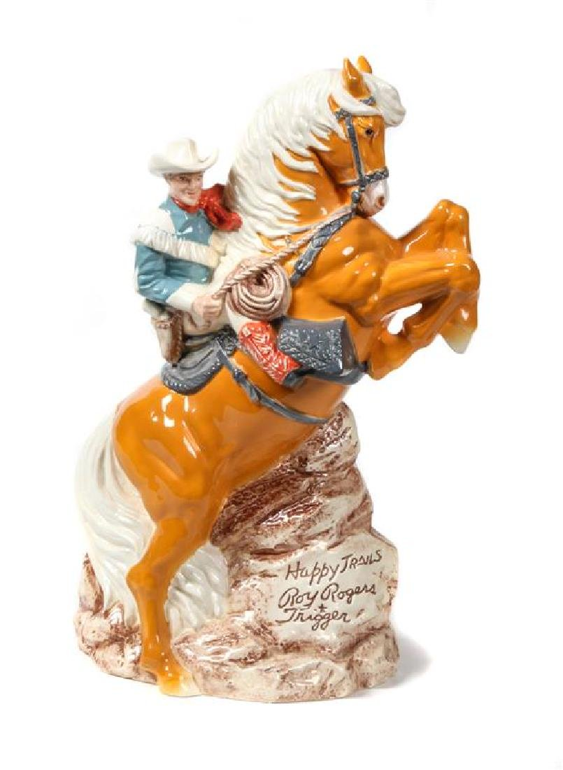 Western Ceramic Figural Group Height 17 1/2 inches