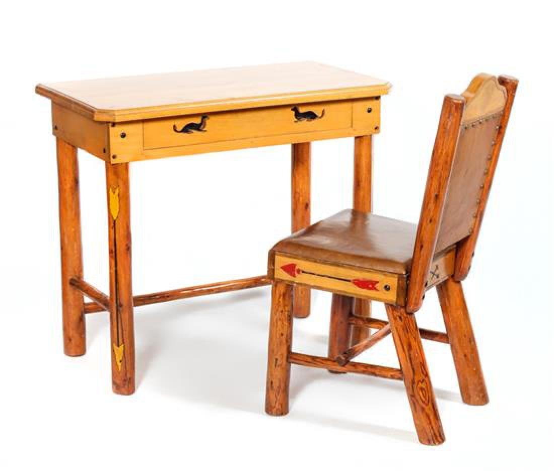 Thomas Molesworth, (American 1890-1977) Desk and Chair