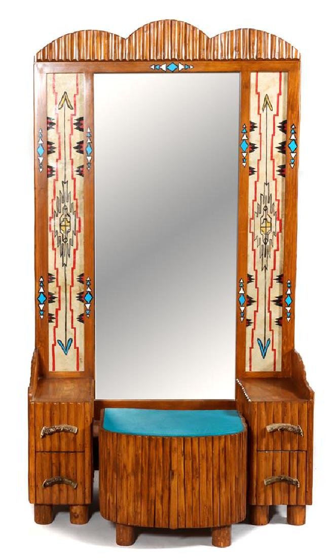 Molesworth Style Cowgirl Dressing Table and Bench,