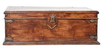 Carved Wood Spanish Blanket Chest Height 22 1/4 x