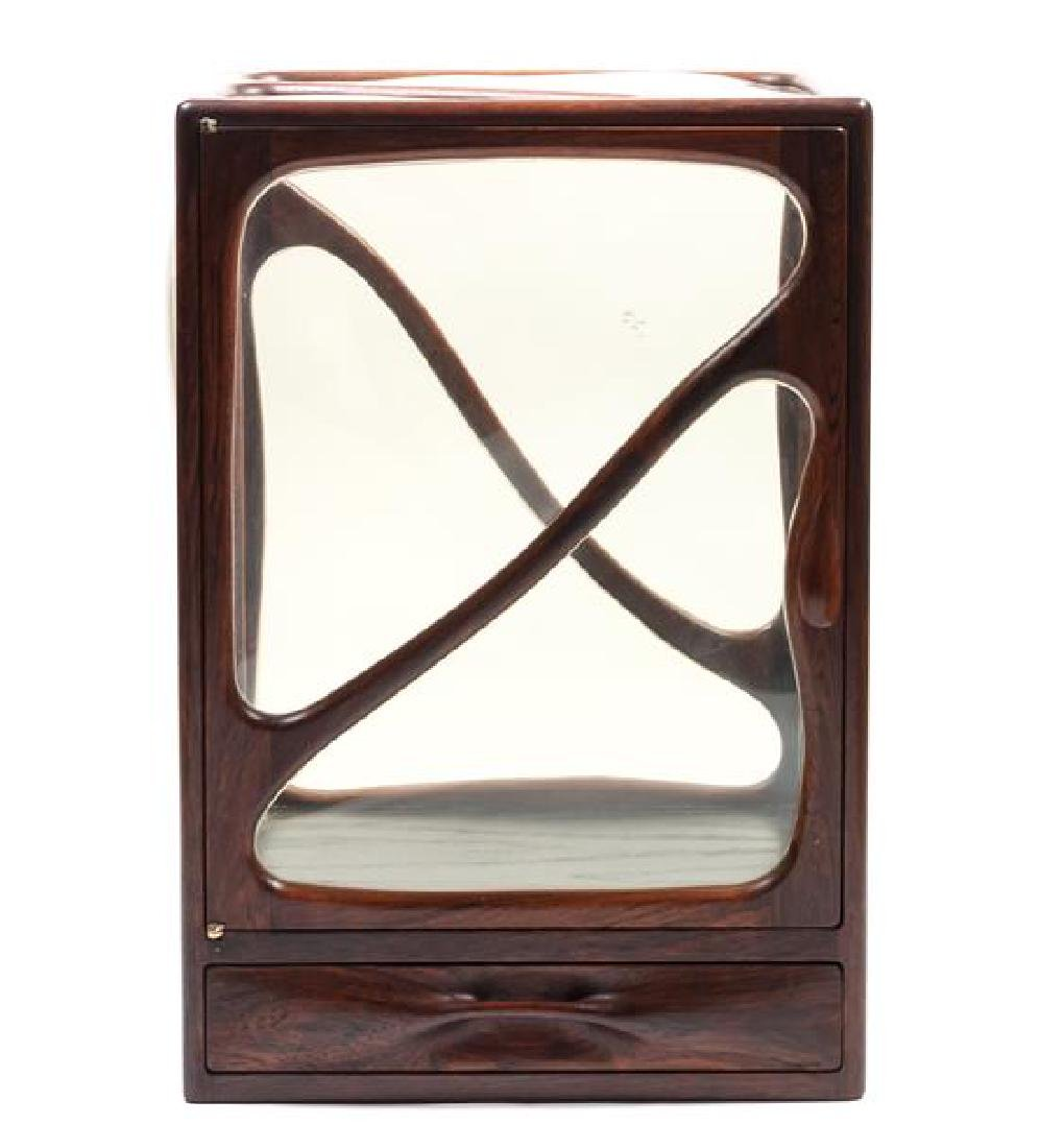 American Rosewood Curio Cabinet by John Bickel Height