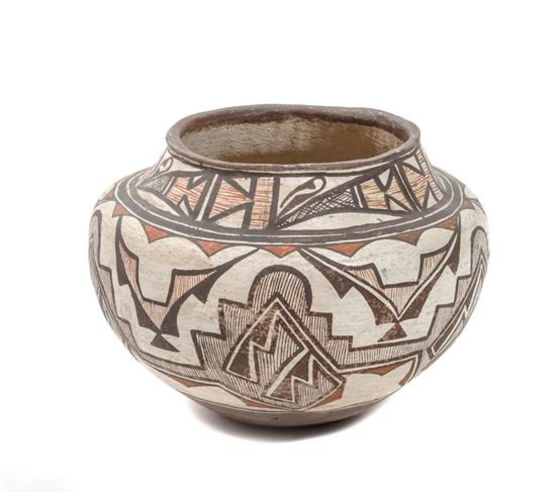 Zuni Polychrome Olla Height 8 3/4 x diameter 10 1/2