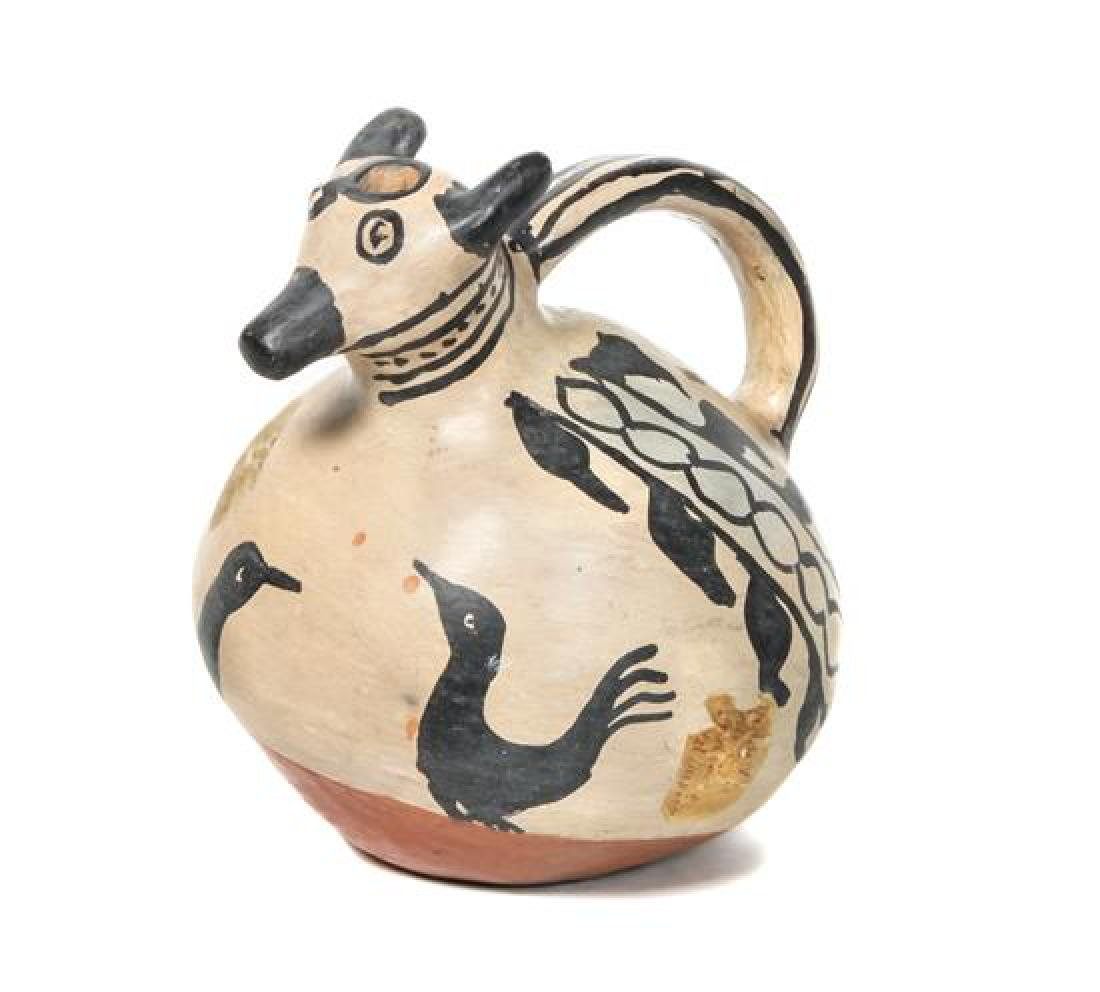 Cochiti Effigy Pitcher Height 8 inches