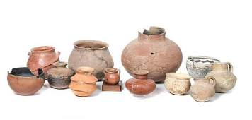 Collection of Prehistoric Pueblo Pottery Height of