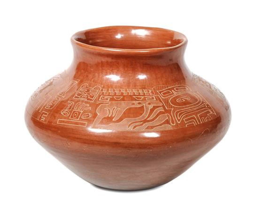 Jody Folwell (b. 1942) Santa Clara Redware Jar Height 6