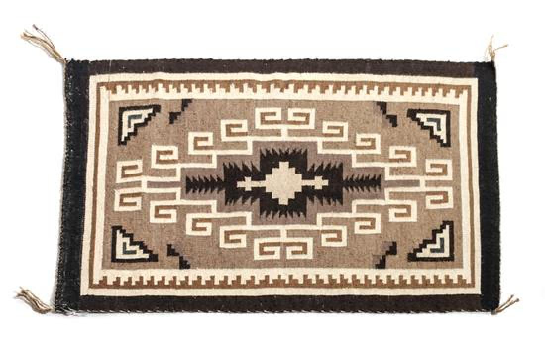 Navajo Two Grey Hills Rug 30 x 20 inches