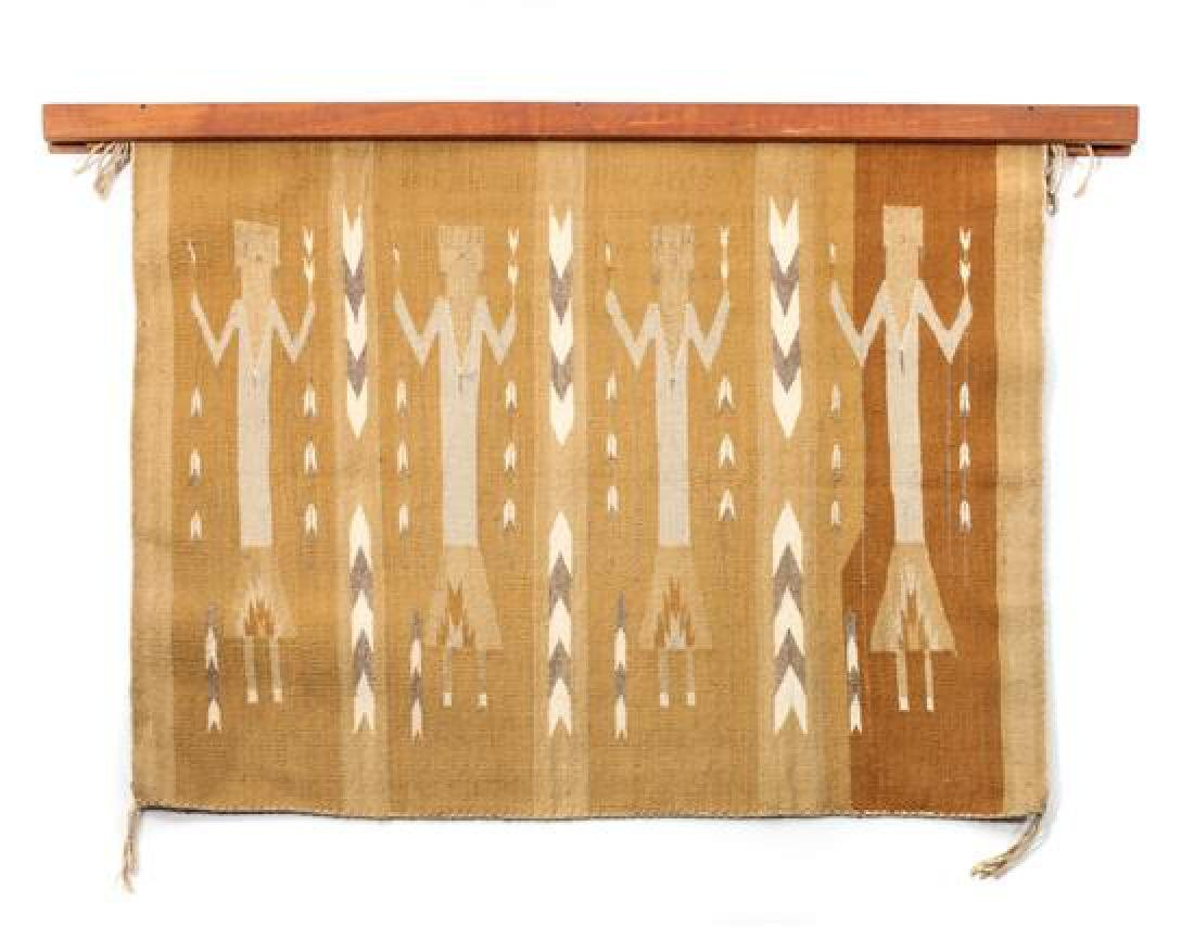 Two Navajo Weavings Larger: 39 x 49 inches