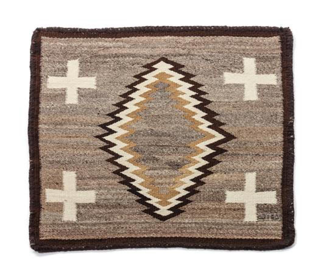 Navajo Square Weaving 26 1/2 x 25 inches