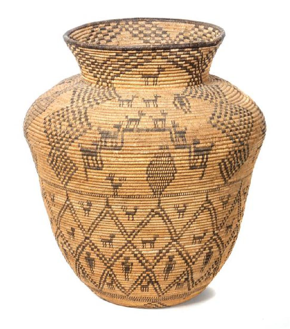 Western Apache Pictorial Olla Basket Height 17 1/2 x