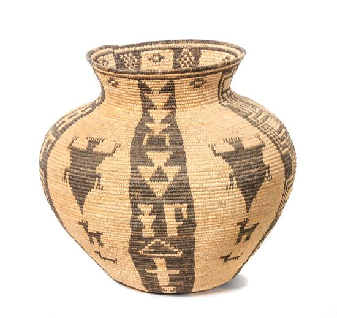 Western Apache Pictorial Olla Basket