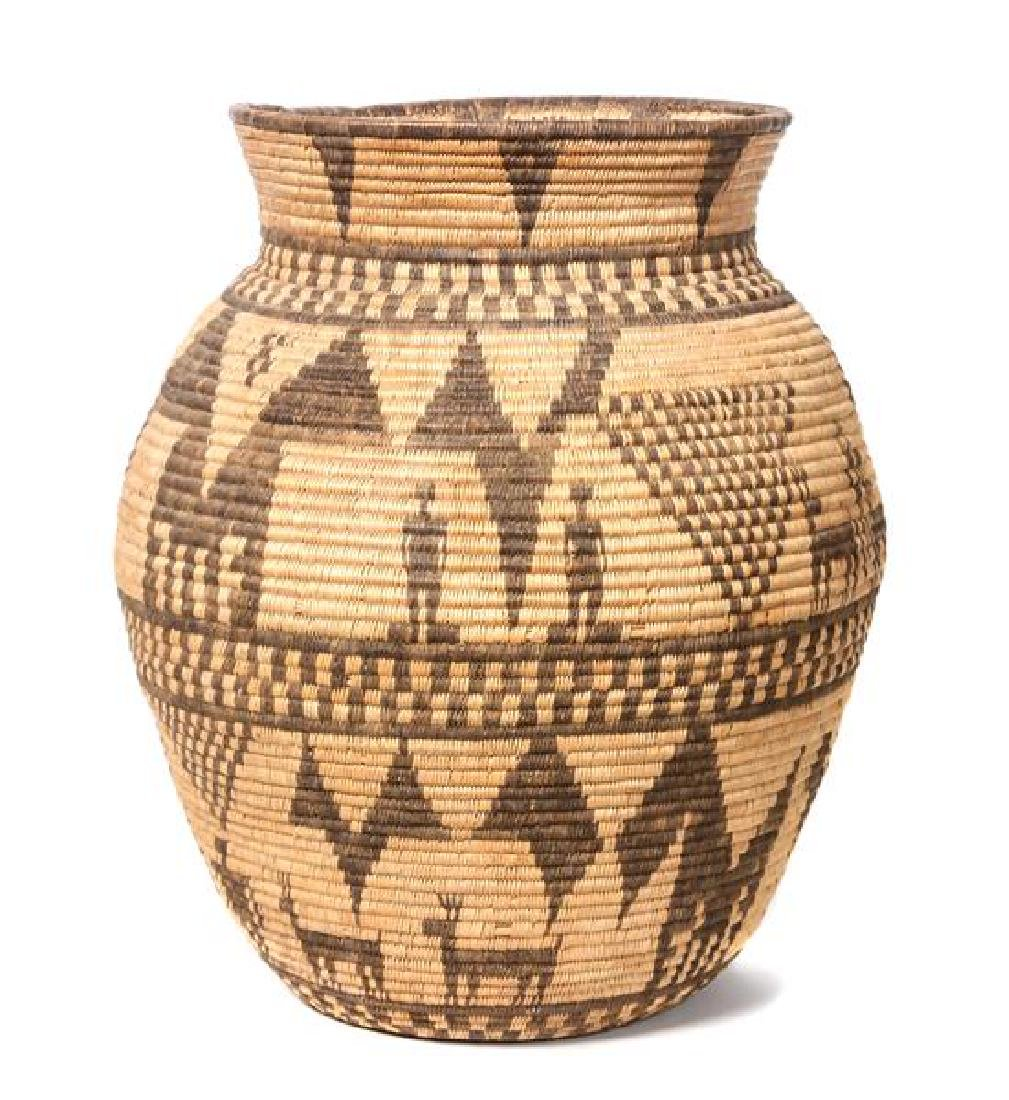 Western Apache Pictorial Olla Basket Height 16 x width