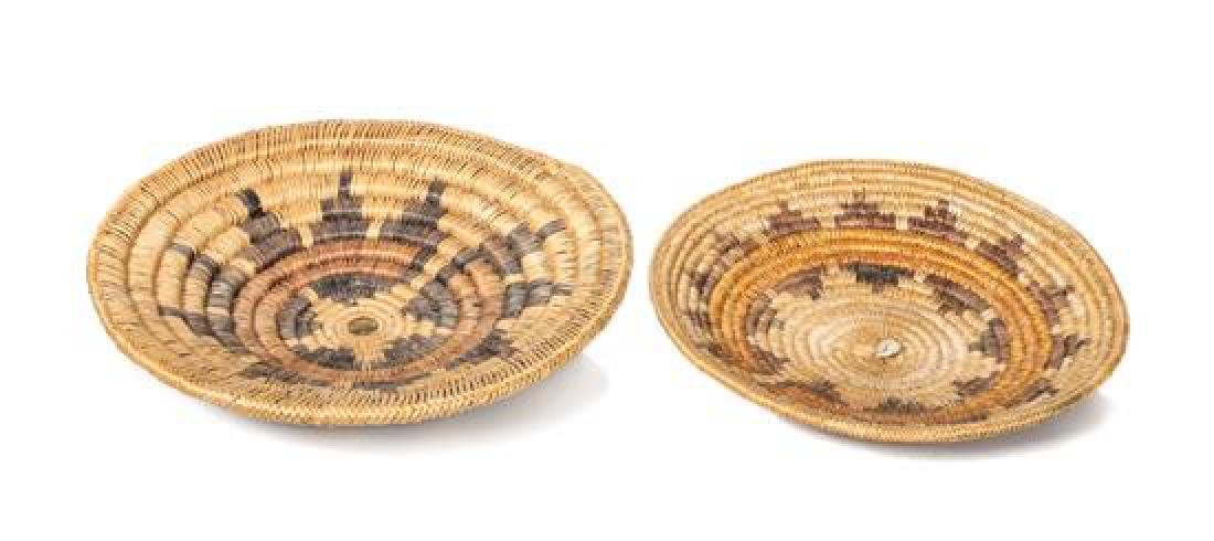 Two Navajo Wedding Baskets Diameter 15 inches