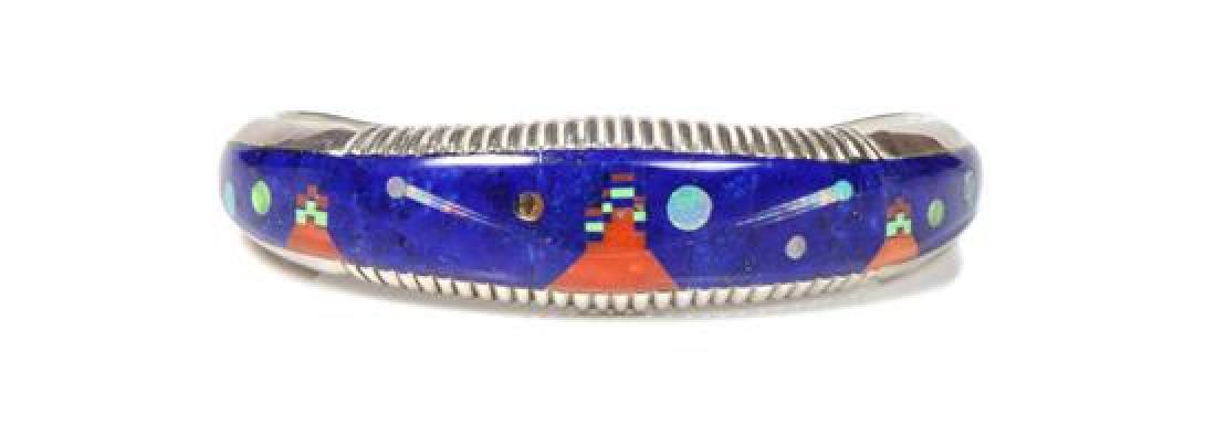 Navajo Mosaic Inlay Bracelet, Alvin Yellowhorse (b.