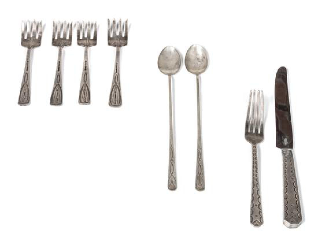 Collection Navajo Silver Flatware Length of first 8 1/4