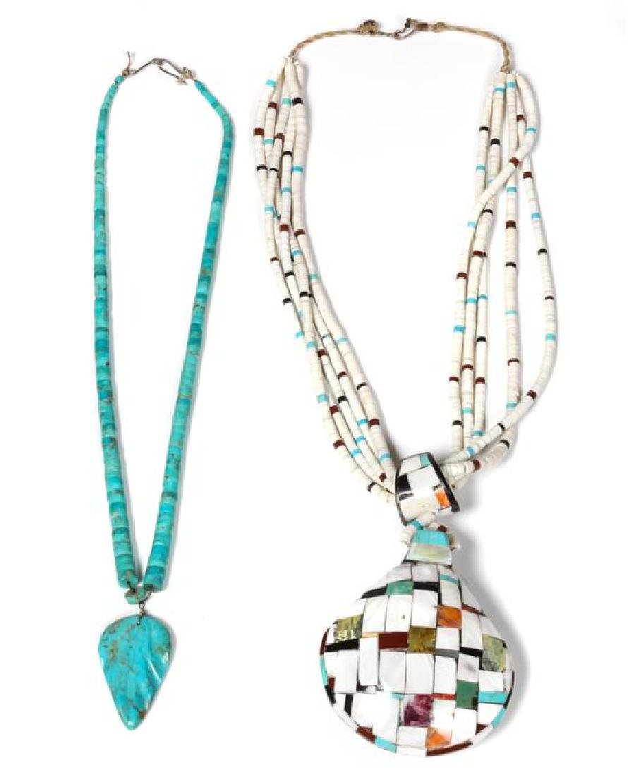 Santo Domingo Inlaid Shell Necklace Length of first