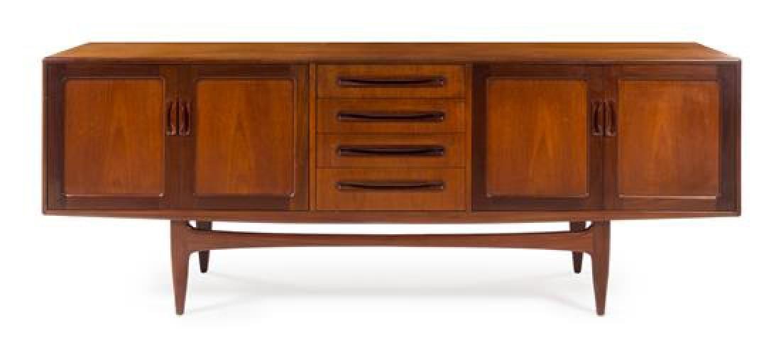 Scandinavian Design, c.1960, sideboard, with 4 doors