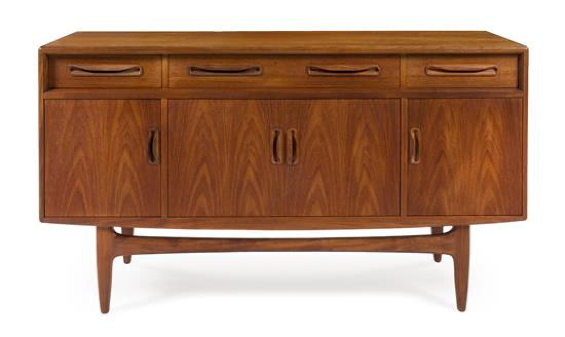 Scandinavian Design, c.1960, sideboard, with 4 drawers
