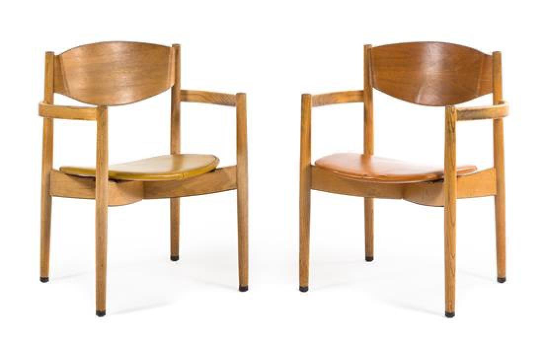 Jens Risom, Jens Risom Design Inc., a pair of arm