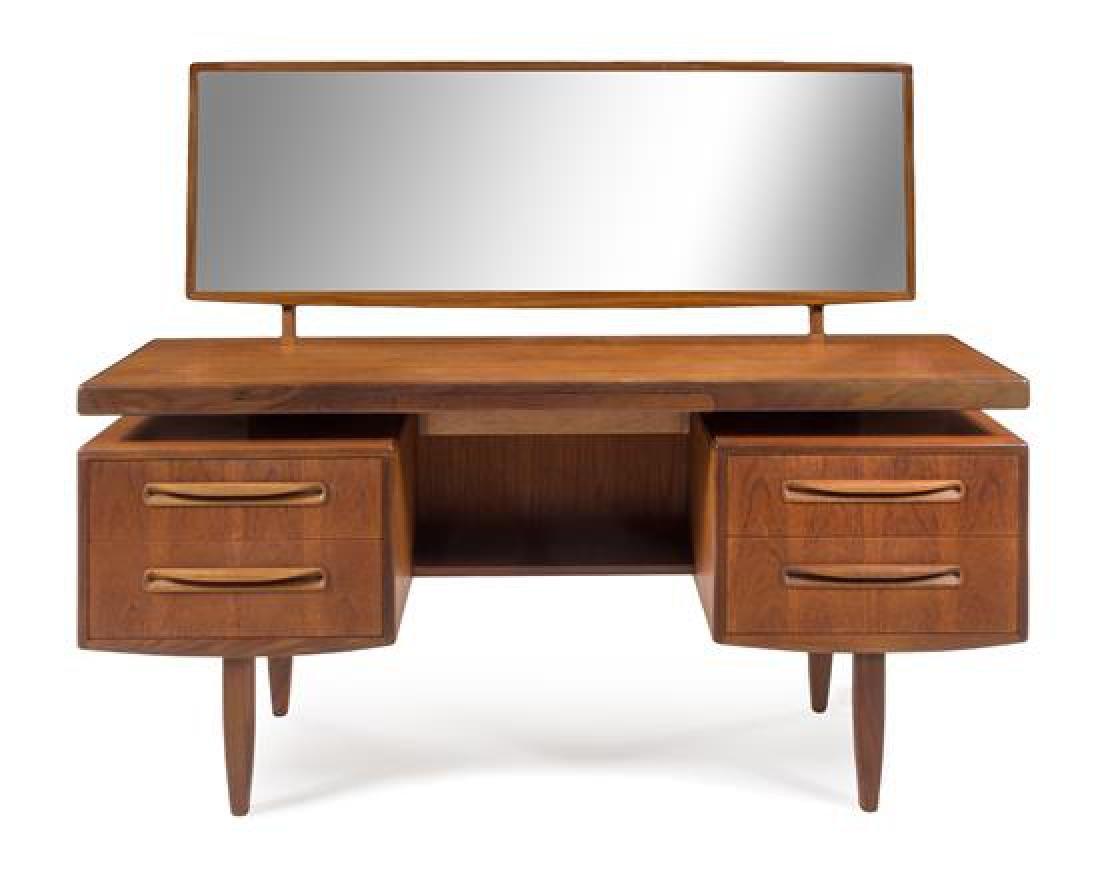 Scandinavian Design, c.1960, desk/vanity with mirror