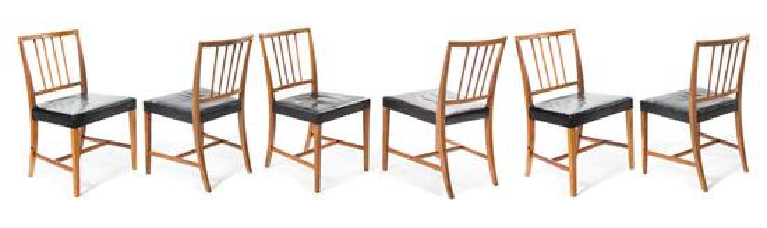 Scandinavian Design, 1950s, a set of six dining chairs