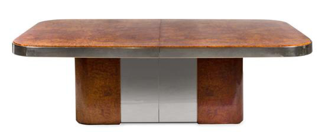 Attributed to Pace, 1970s, a conference table, with two