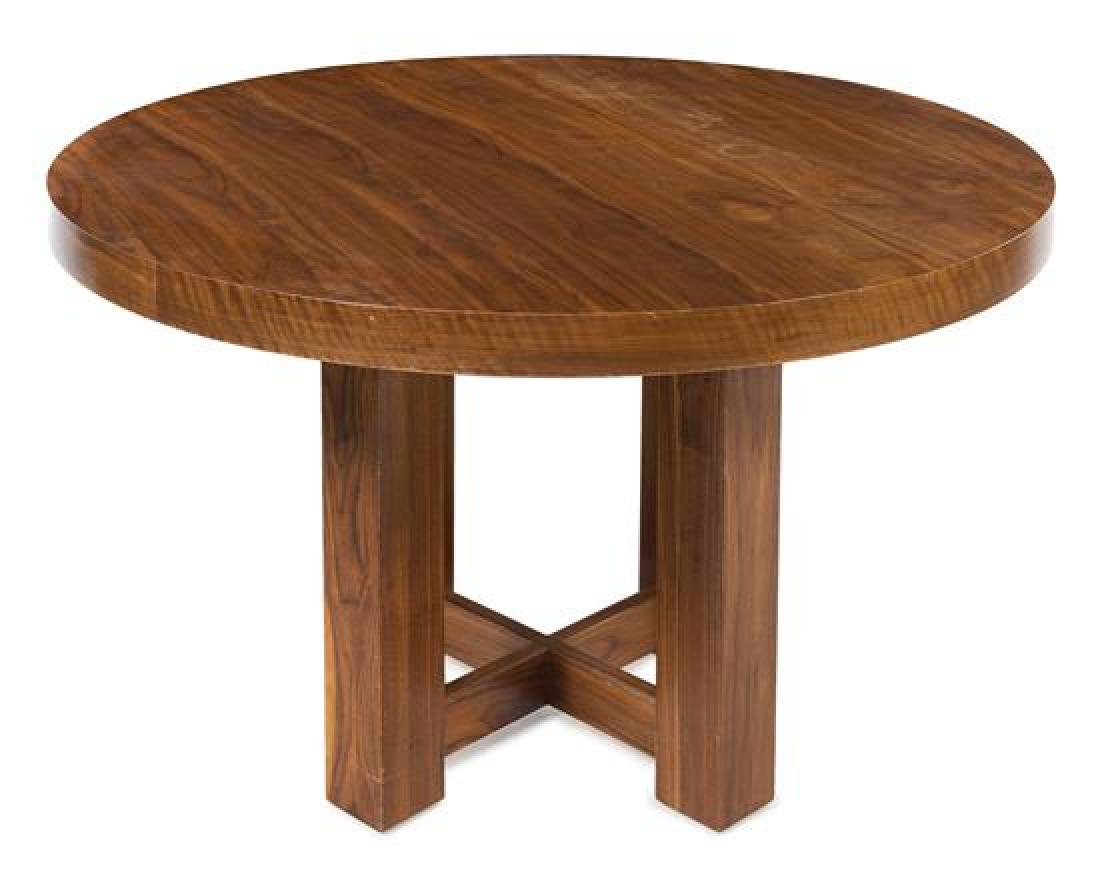 American, c.1960, a circular dining table