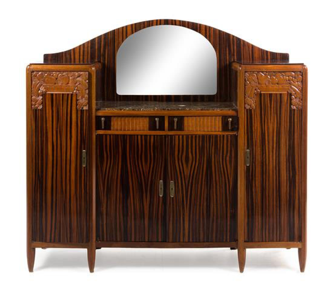 Art Deco, 1930s, serving cabinet, with mirror and