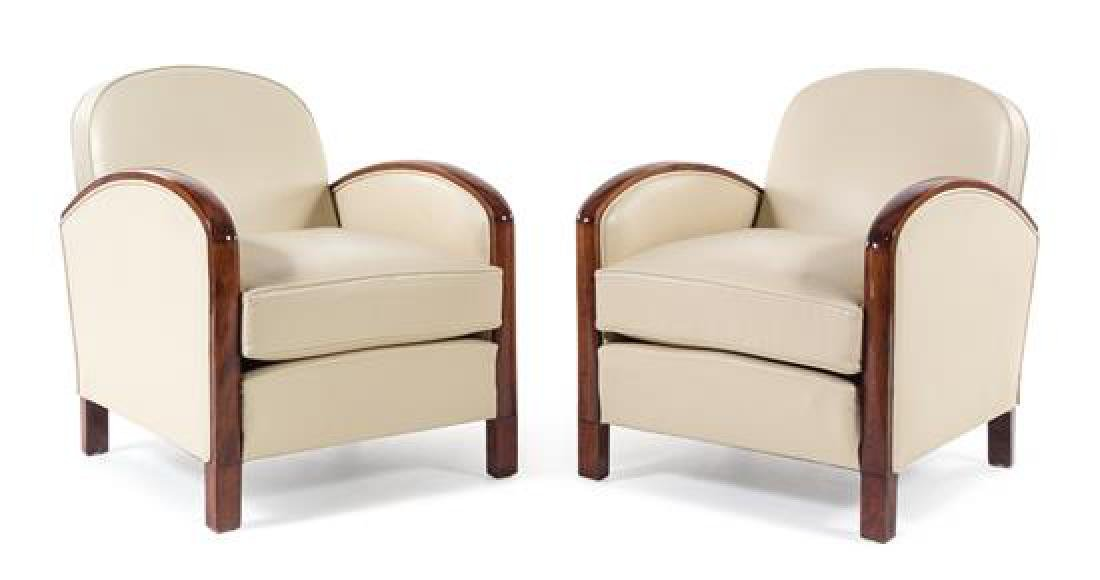 Art Deco, France, 1930s, a pair of lounge chairs