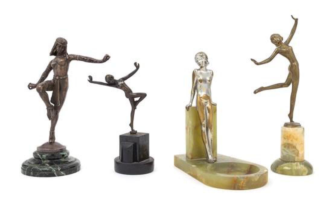 Art Deco, 1920s, a group of four sculptures, each